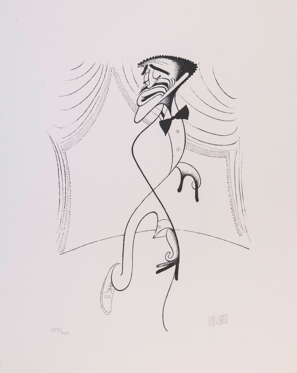 Al Hirschfeld master of line new yorker cartoon celebrity art Sammy Davis Jr.