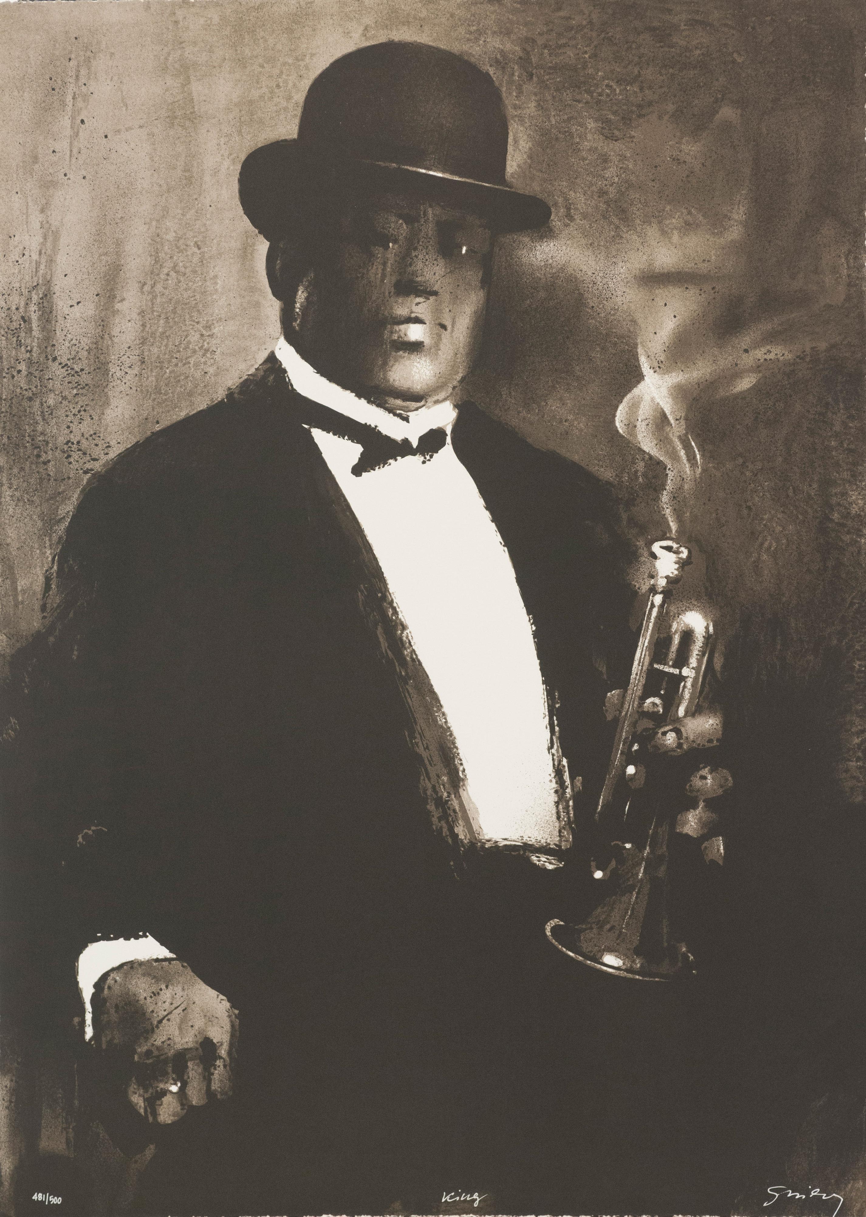 King Oliver Waldemar Swierzy fine art print cornet jazz joe oliver