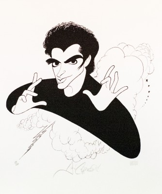Al Hirschfeld master of line new yorker cartoon celebrity art David Copperfield magician