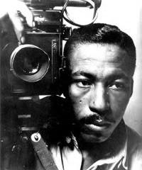 Black and white photo of Gordon Parks