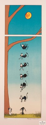 comic strip art Patrick McDonnell fine art lithograph mutts