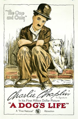 Charlie Chaplin A Dog's Life classic movie poster vintage movie poster fine art lithograph one-sheet golden age of film classic cinema