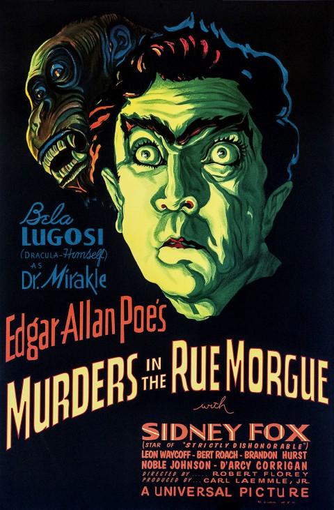 Movie posters art sale: Murders in the Rue Morgue Edgar Allan Poe Bela Lugosi