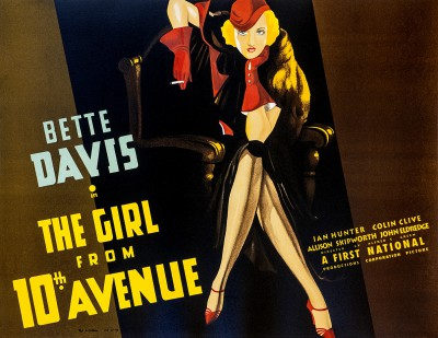 Bette Davis The Girl from 10th Avenue classic movie poster vintage movie poster fine art lithograph one-sheet golden age of film