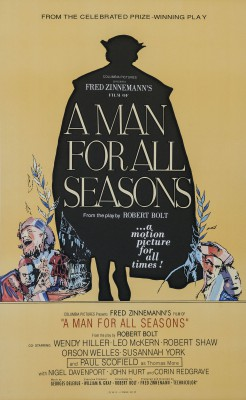 Orson Welles A Man for all Seasons classic movie poster vintage movie poster fine art lithograph one-sheet golden age of film