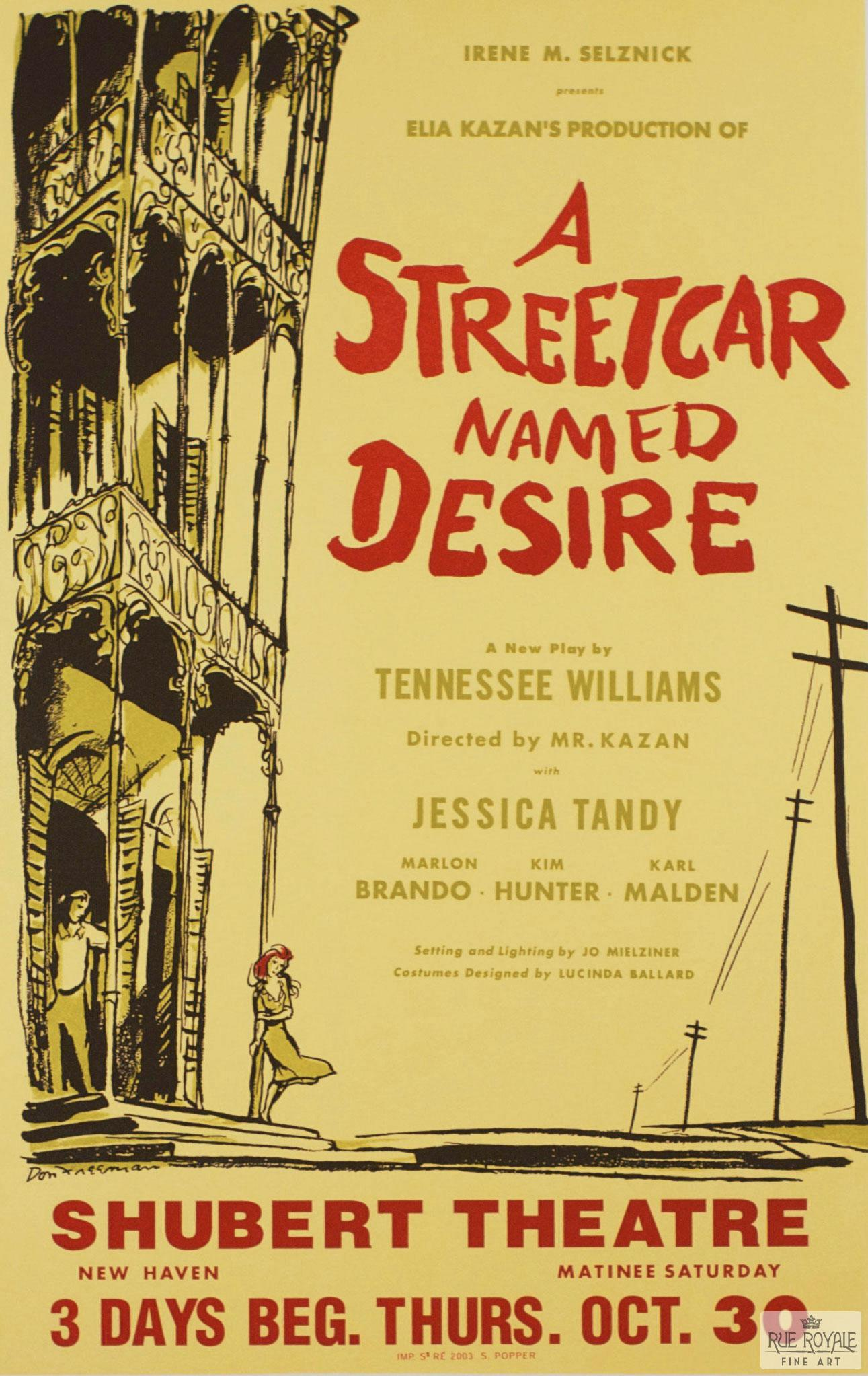 the street car named desire A streetcar named desire by tennessee williams and so it was i entered the broken world to trace the visionary company of love, its voice an instant in the wind (i know not whither hurled.