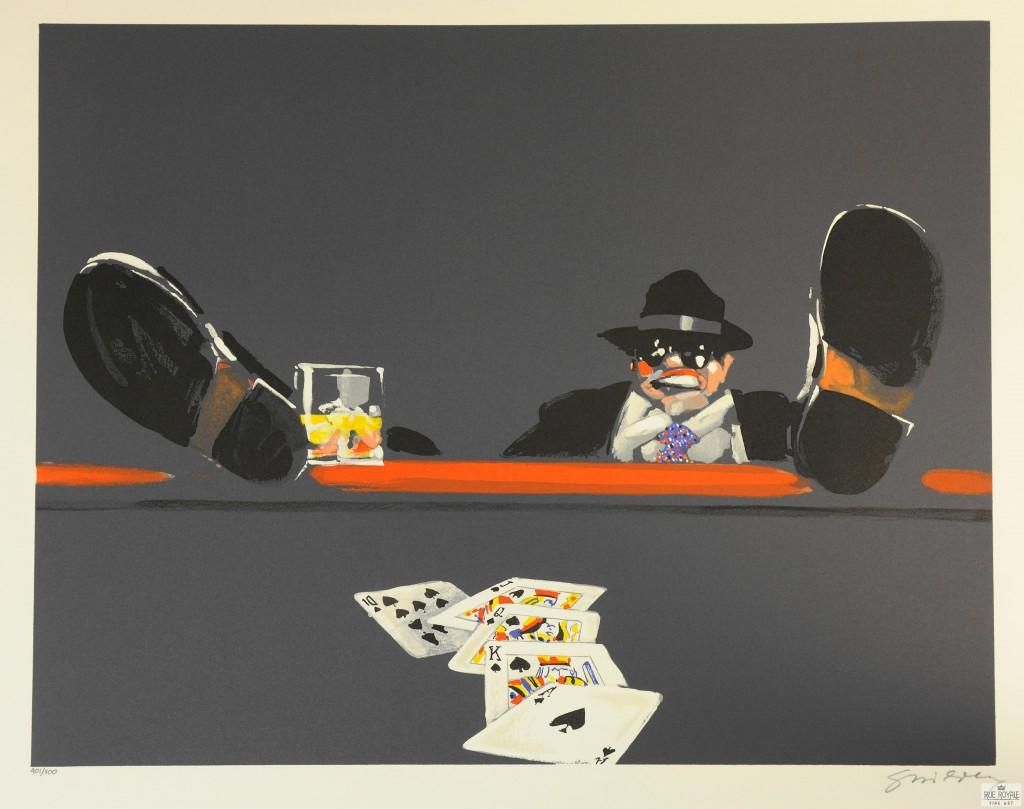 Waldemar Swierzy Gangster Art Fine Art Lithograph poker