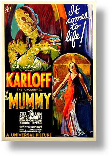 Movie posters art sale: Mummy starring Zita Johann