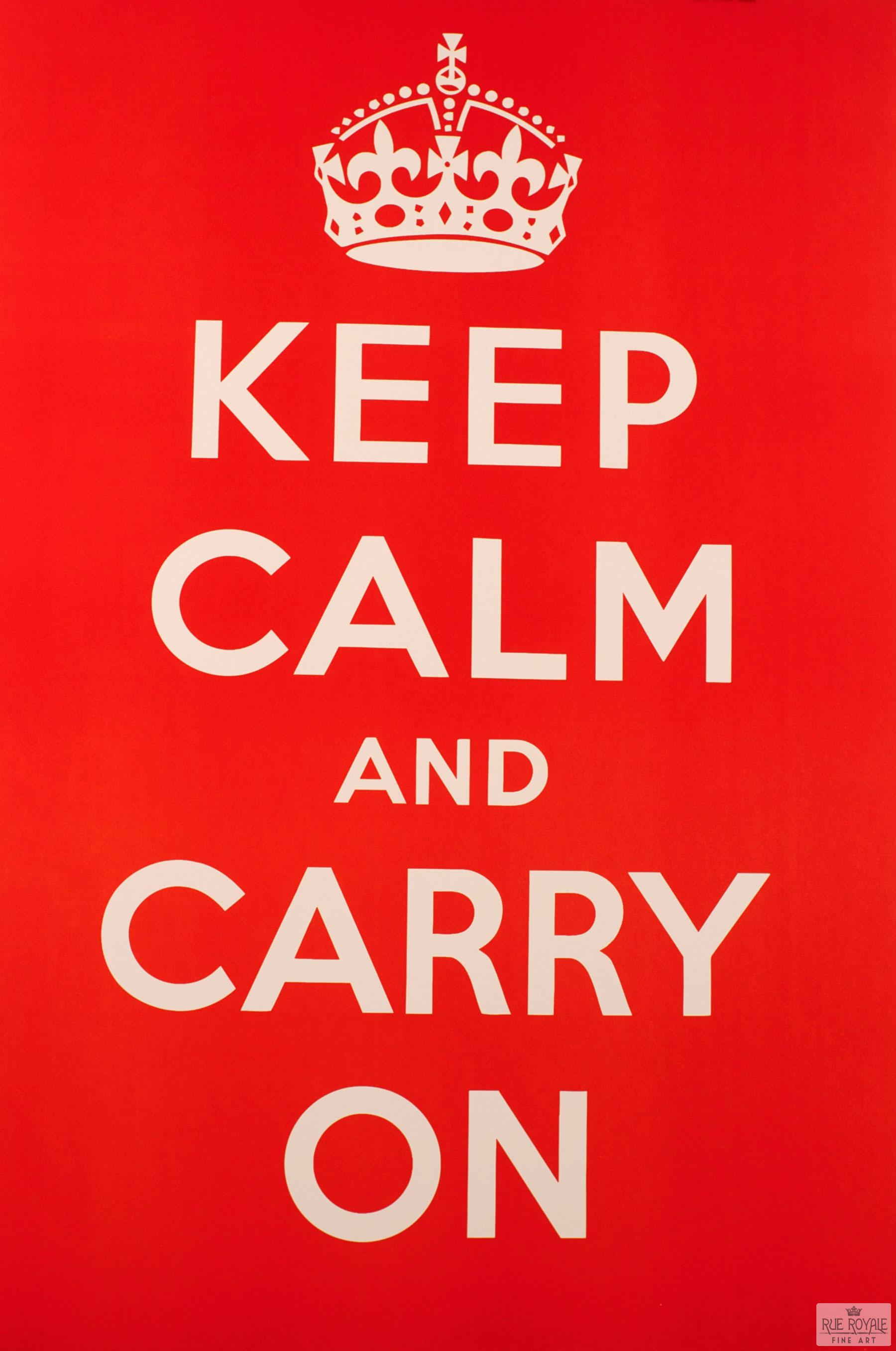 fine art lithograph keep calm carry on