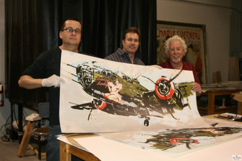 Michael Bryan with Dan Woodward displaying finished print