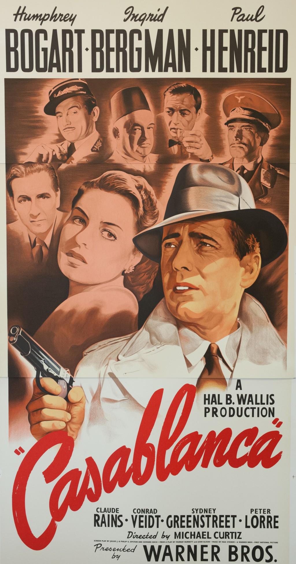 Casablanca Humphrey Bogart Ingrid Bergman Classic movie poster vintage movie poster fine art film vintage poster