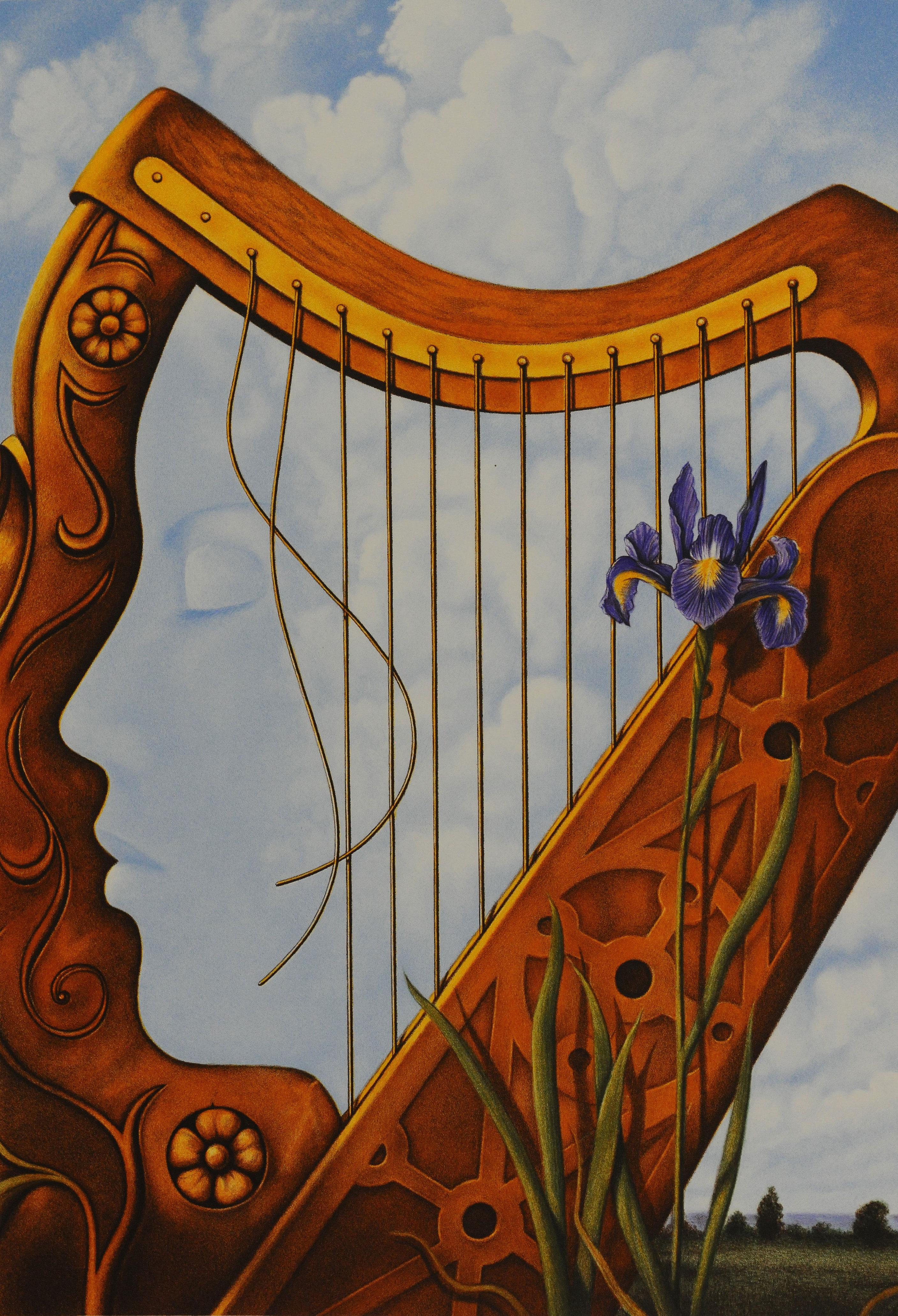 Rafal Olbinski Polish Poster surrealist surrealism dreamscape harp