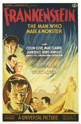 Frankenstein Colin Clive Mae Clarke John Boles Boris Karloff classic movie poster vintage movie poster fine art lithograph one-sheet golden age of film