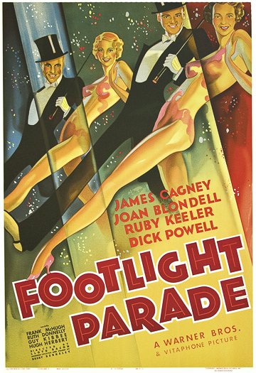 Footlight Parade warner bros James Cagney Joan Blondell Ruby Keeler Dick Powell classic movie poster vintage movie poster fine art lithograph one-sheet golden age of film